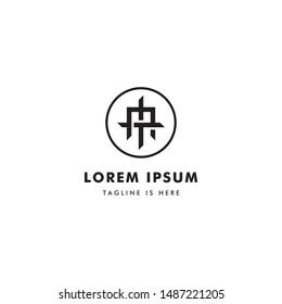 Logo Letter MT Or TM, Concept Letter M + T monogram design.