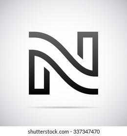 Logo for letter N