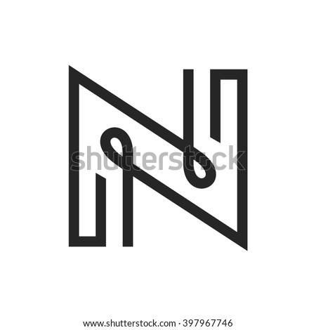 logo for letter n design concept