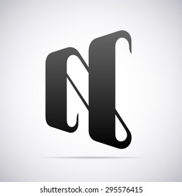 vector logo letter n design template stock vector royalty free