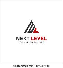 logo letter NL next level