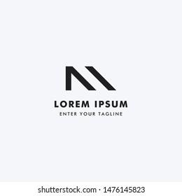 Logo Letter NM Monogram, Concept Letter N + M Simple Design.