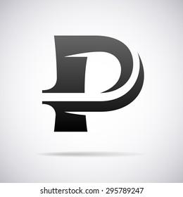 logo for letter p design template