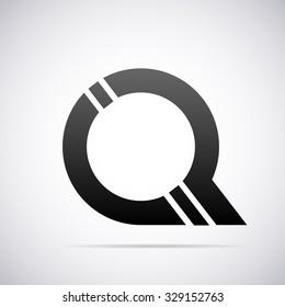 Logo for letter Q