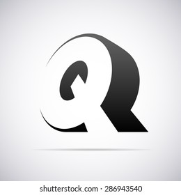 Logo for letter Q. Design template