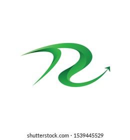 logo letter R transportation travel vector