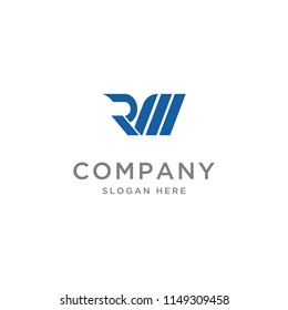 logo Letter RM Initial illustration Abstract