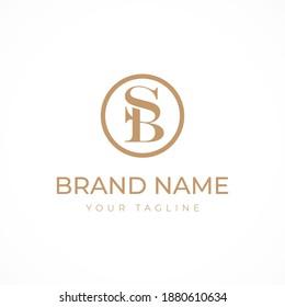 logo letter SB logo. mark sb logo design vector. minimalist luxury concept