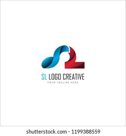 logo letter SL for your company corporate vector illustration eps10
