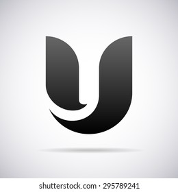 Logo for letter U. Design template
