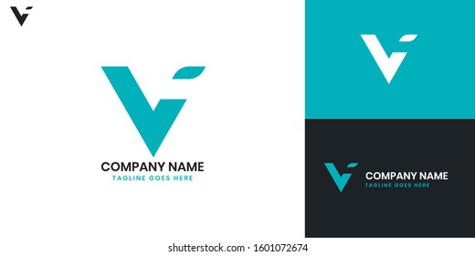 Logo Letter V - All elements on this template are editable with vector software.