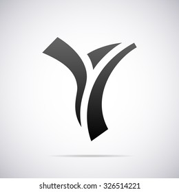 Logo for letter Y. Design template