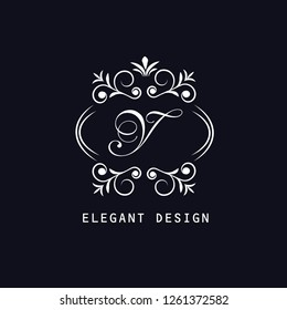 Logo of the letter Y. Elegant coat of arms monogram. Magnificent logo for restaurant, royalty, boutique, cafe, hotel, heraldry, jewelry, fashion. Vector illustration