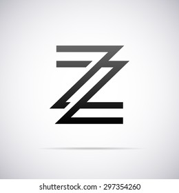Logo for letter Z. Design template