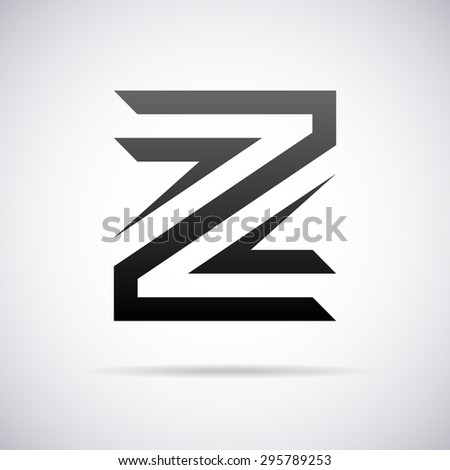 Logo Letter Z Design Template Stock Vector Royalty Free 295789253