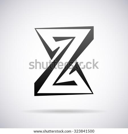 Logo Letter Z Design Template Stock Vector Royalty Free 323841500