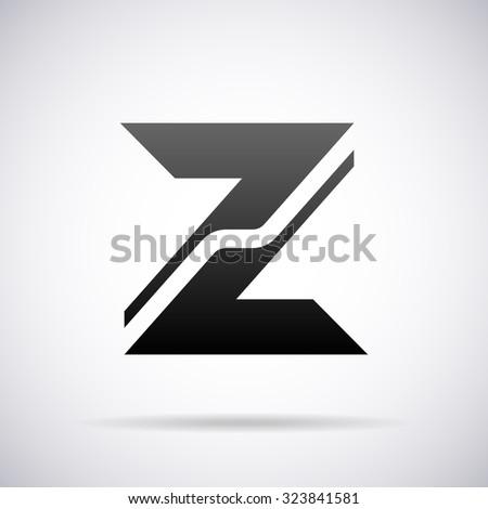 Logo Letter Z Design Template Stock Vector Royalty Free 323841581