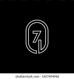 logo letter Z modern outline style. circle logotype