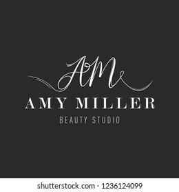 Logo letters AM