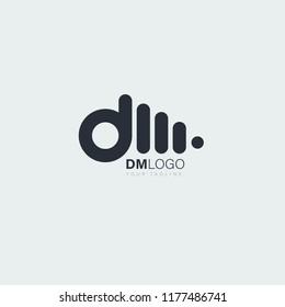 logo letters dm