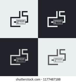 logo letters ds