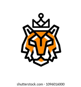 The logo of the lines of the tiger on white background