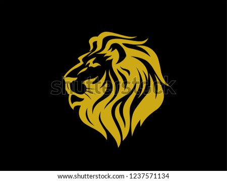 Logo Lion Sketch Tattoo Lion King Stock Vector Royalty Free