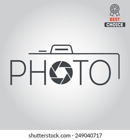 Logo and logotype elements for photograph