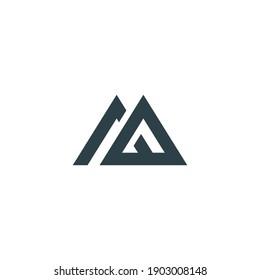 logo M abstract, M home, line art, simple, minimalist