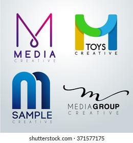 Logo M Design : Corporate Identity Logo : Vector Illustration