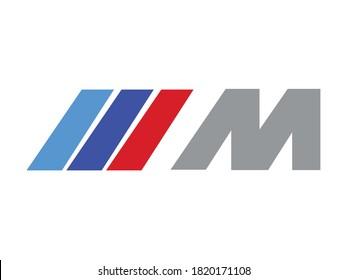 Logo m icon vectoriel sur fond blanc