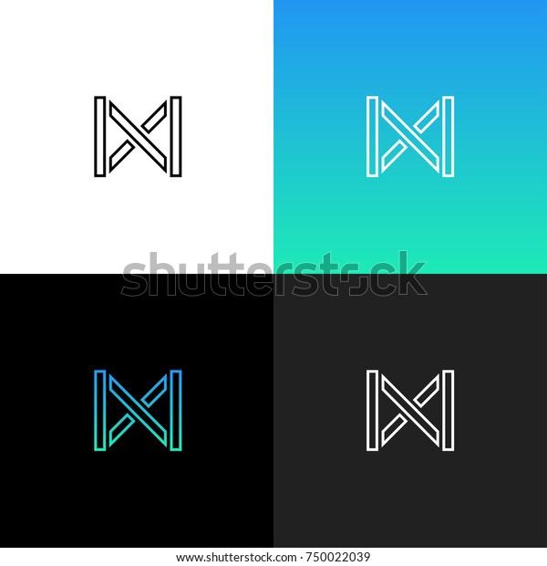 4a48d52e0e Logo M Linear Logo Letter D Stock Vector (Royalty Free) 750022039