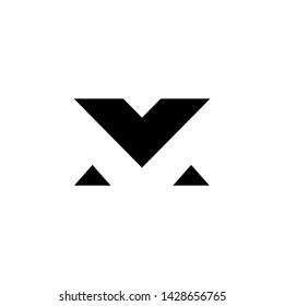 logo M vector simple abstrak design