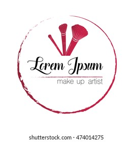 Logo. Make up artist. Illustration vector