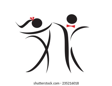 logo. Man and woman black and red color