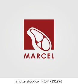 Logo Marcel Meat Template Design