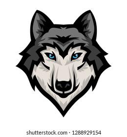 logo mascot sports gaming animal wolf