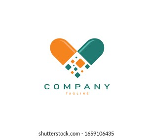 logo of Medical and health care from the heart pharmacy modern logo design in fresh and unique idea logo logos
