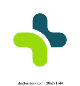 Logo. Medicine. Cross.