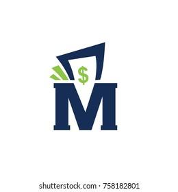 logo money vector flat template