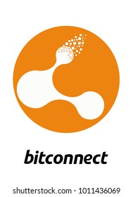 The logo for mono crypto currency bitconnect (BCC). Vector illustration