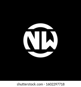 logo monogram isolated on circle element design template