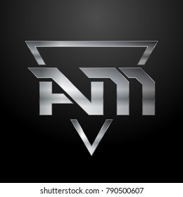AM Logo, Monogram, Metal