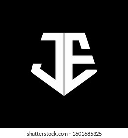 logo monogram with pentagon shape style design template