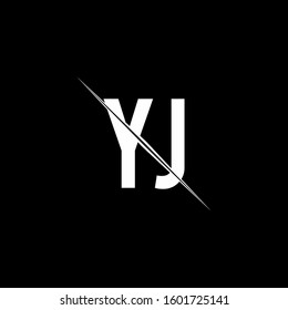 logo monogram with slash style design template