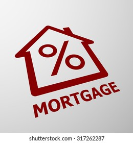 Logo of the mortgage. Real Estate. Stock vector illustration