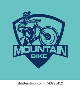 Logo Mountain Bike Free Ride Dirt Bike
