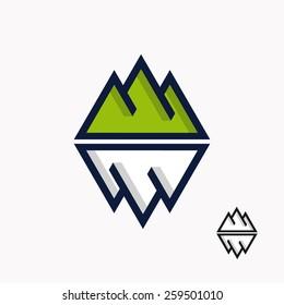Logo of the mountain and iceberg