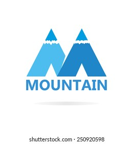 Logo of mountains in style of M
