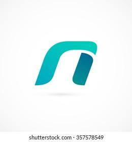 Logo n letter. Isolated on white background. Vector illustration, eps 10.